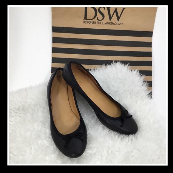 459487592076 J. Crew Shoes | J Crew Evie Ballet Black Leather Flats 10 | Poshmark